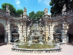 【ツヴィンガー宮殿】宮殿にあるニンフの泉