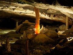【聖ベアトゥス鍾乳洞】鍾乳洞内部はガイドツアーで見学する