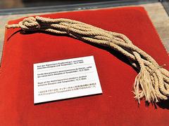 【マッターホルン博物館】1865年、マッターホルン初登頂の際に使われたロープ