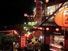 【基山街(キサンガイ)】有名な赤い提灯