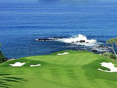 【マウナ・ケア・ゴルフコース】太平洋を臨むパー3の11番ホール