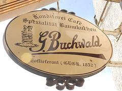 【ブーフヴァルト】創業1852年と記された看板
