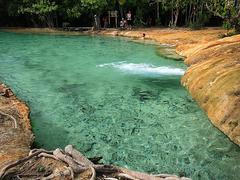 【エメラルド・プール】森の中に湧き出る天然温泉