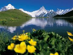 【バッハアルプ湖】雪山と湖が織りなす素晴らしい景色が楽しめる