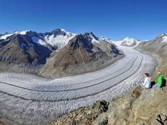 【フィーシュ・エッギスホルン】アレッチ氷河の圧巻の眺め