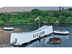 【USS アリゾナ記念館】戦艦アリゾナ号が沈む海上に立てられている記念館