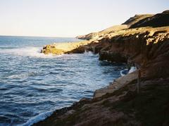 【カブリヨ国定記念公園】波が打ち寄せる海岸