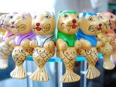 【メリッサ】木彫りのマーライオン
