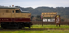 【ナパ・バレー・ワイン・トレイン】ブドウ畑の間を走る列車