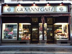 【ジョバンニ・ガッリ】ドゥオーモ近くにある本店の外観