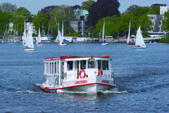 【アルスター湖遊覧】アルスター湖を遊覧する船