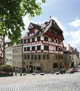 【デューラーの家】ドイツ特有の木骨建築