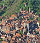 【聖ヤコブ教会】空から見下ろしたローテンブルクの街並みと聖ヤコブ教会