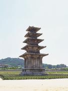 【定林寺址(テイリンジシ)】花剛岩でできた五重塔