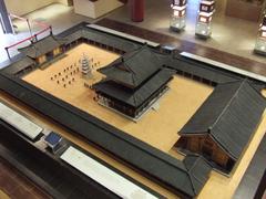 【定林寺址】定林寺址博物館内の模型