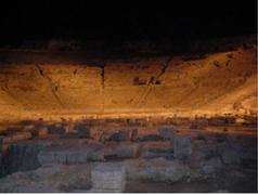 【ネアポリ考古学公園】ギリシア劇場夜