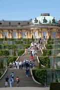 【サンスーシ宮殿】サンスーシ宮殿と宮殿前に広がる庭園