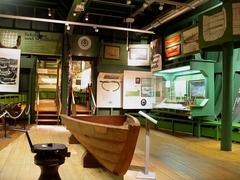 【造船と航海博物館】木造船の展示