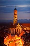 【聖ウルリヒ・アンド・アフラ教会】聖ウルリヒ&アフラ教会の夜景