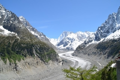 【モントンベールとメール・ド・グラス氷河】メール・ド・グラス