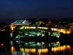 【晋州城(チンジュソン)】矗石楼(チョッソンヌ)の夜景