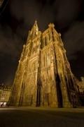【ストラスブール・ノートルダム大聖堂】夜の大聖堂