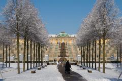 【サンスーシ宮殿】雪化粧をしたサンスーシ宮殿