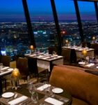 【360 レストラン】高層ビル群を眺めながらの食事