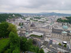 【ホーエンザルツブルグ城】城から眺めるザルツブルクの街並み