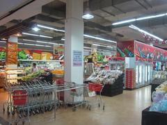 【ラッキー・モール】清潔感のあるスーパーマーケット内