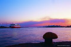 【ピレウス港】港夕景