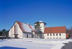 【ヴァイキング船博物館】雪のなかにたたずむ博物館