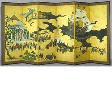 【国立古美術館】南蛮屏風は日葡交流の歴史を物語る