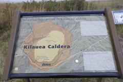 【キラウエア・カルデラ】噴煙をあげるキラウエア・カルデラ内のハレマウマウ火口