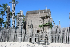 【プウホヌア・オ・ホナウナウ国立歴史公園】古代ハワイアンの生活様式を紹介する展示もある