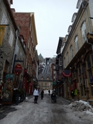 【ケベック旧市街の歴史地区】ロウワータウンにあるプチシャンプレン通り