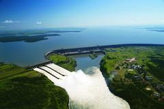 【イタイプー水力発電所】ダム航空写真