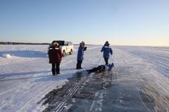 【オーロラ・ビレッジ】氷でできた道路「アイスロード」を楽しむオプショナルツアー