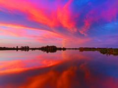 【イエローウォータークルーズ】水面に映る広大な夕焼けにうっとり