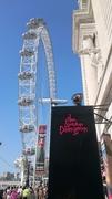 【ロンドン・ダンジョン】ロンドンアイの並び、テムズ川に面した入口