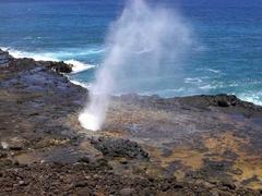 【スパウティング・ホーン(潮吹き穴)】カウアイ島 潮吹き岩【LIH CIT ANY】