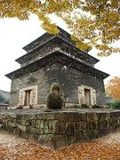 【芬皇寺(フンコウジ)】塔の形態や規模から見て7層か9層だったものと推定
