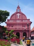 【キリスト教会】赤い外観が映えるキリスト教会