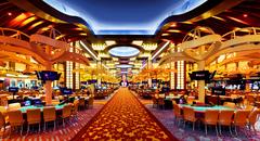 【リゾート・ワールド・セントーサ・カジノ】華やかなカジノの店内
