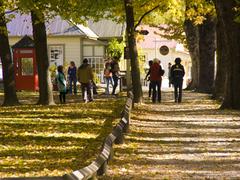 【アロータウン】紅葉が有名なこの街では、毎年4月末に秋の祭典が大々的に行われる